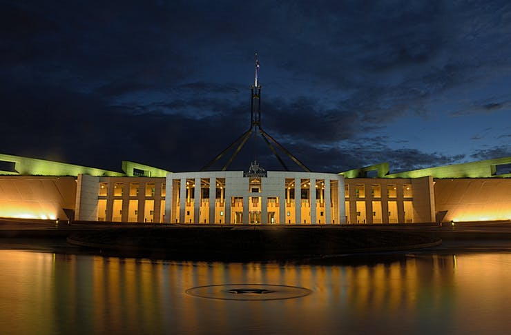 A photo of Parliament in Canberra