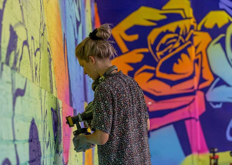 Be Dazzled By Colour With George Rose' Latest Mural
