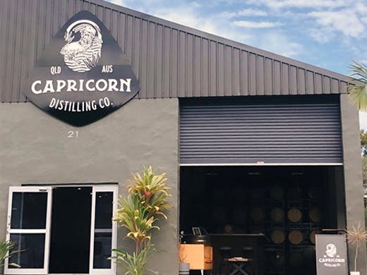 the exterior of capricorn distilling in burleigh