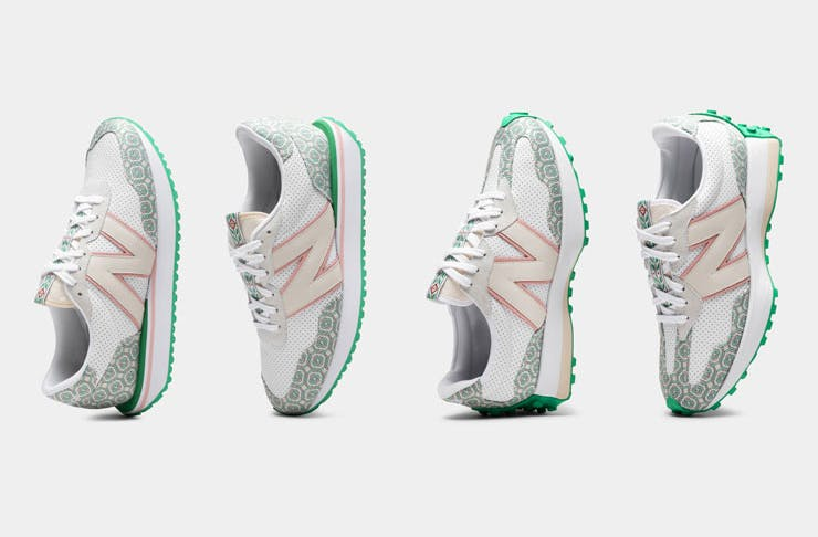 The new Casablanca x New Balance sneakers.