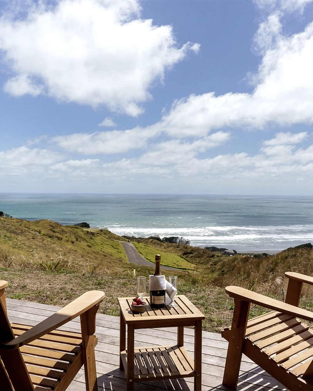 Chairs overlooking a wonderful view at Castaways.