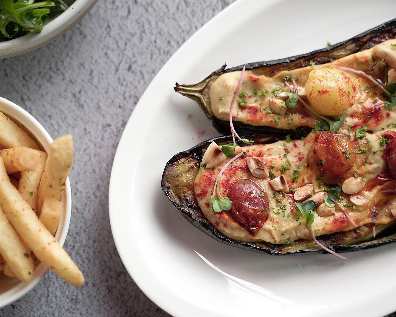 A delicious looking eggplant dish at Castros.