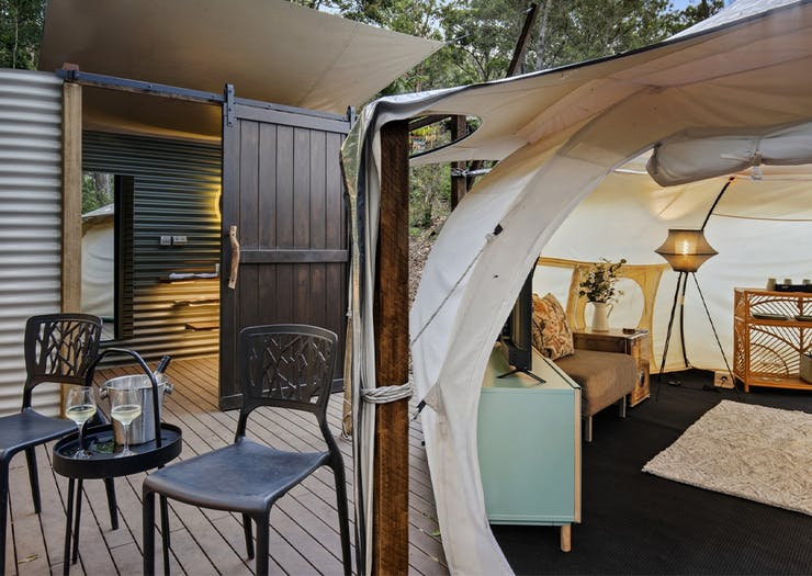 Shower Under The Stars In These New Glamping Tents On Tamborine Mountain