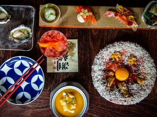 A selection of Japanese dishes from Chaco Bar in Potts Point.