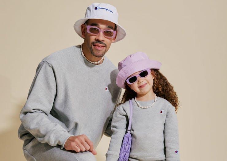 models wearing Champion toddler range