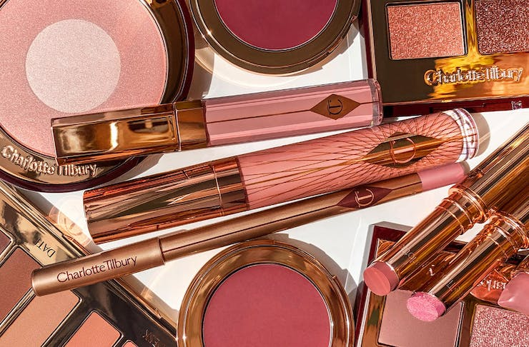 a selection of charlotte tilbury beauty products