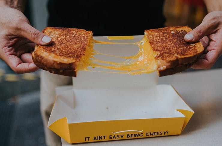 best cheese toasties brisbane, melt brothers laneway party
