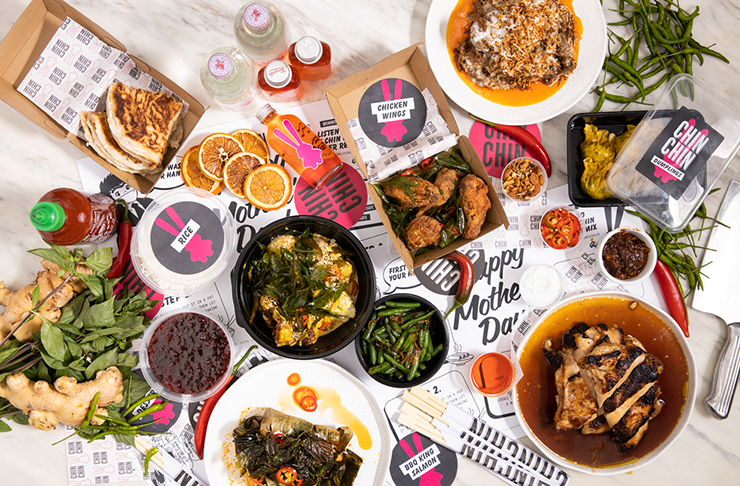 Spread of Chin Chin's famous dishes for mum on Mother's Day.