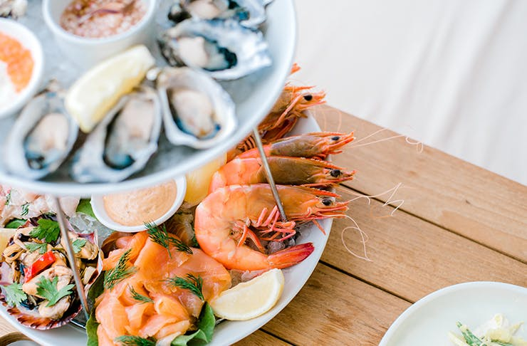 A bountiful seafood display, Best places to eat Christmas Day lunch in Wellington