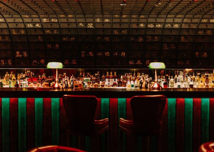 bar inside cindy chows