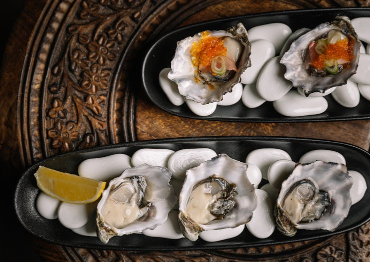 oysters in their shells