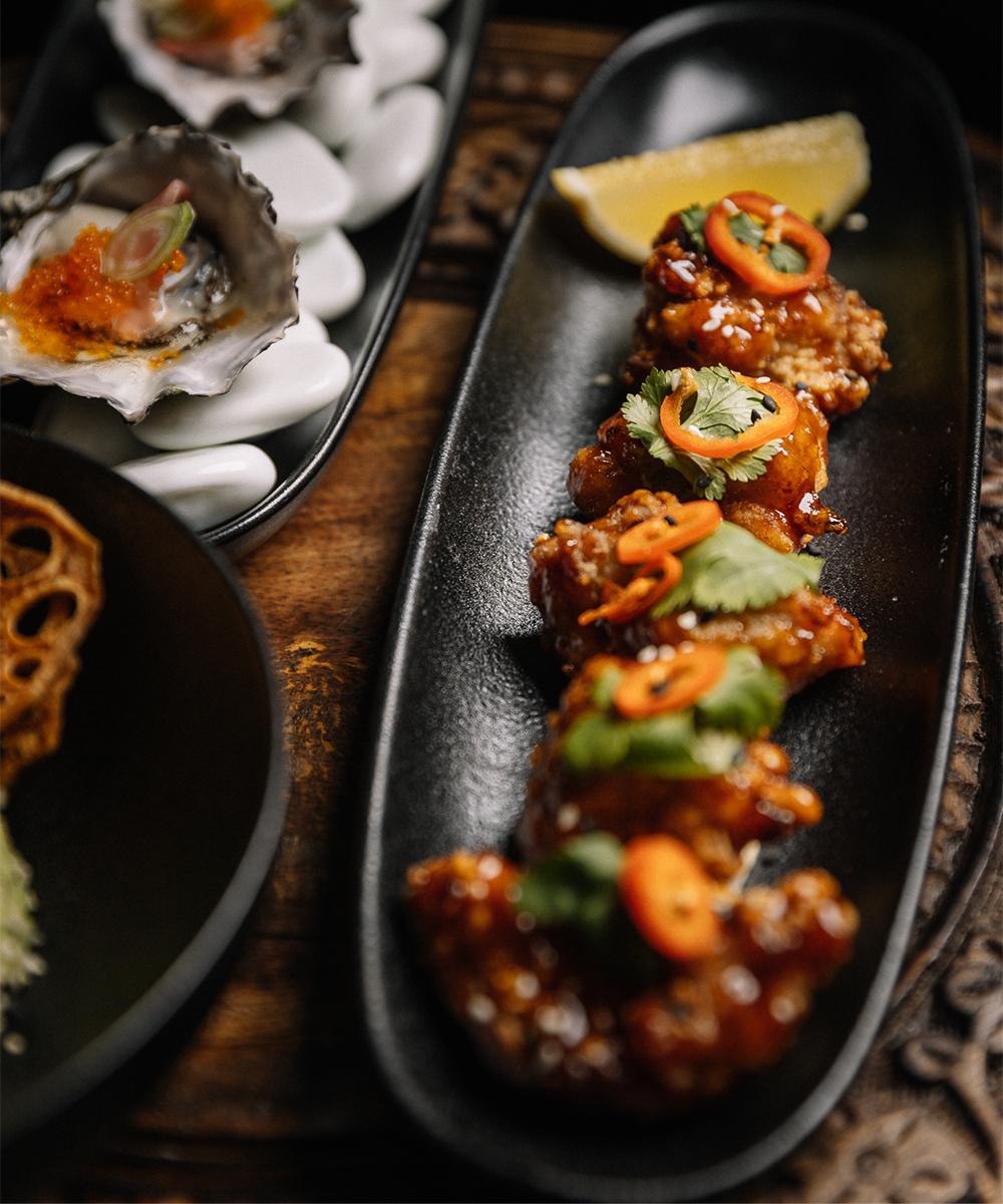 two plates of tapas