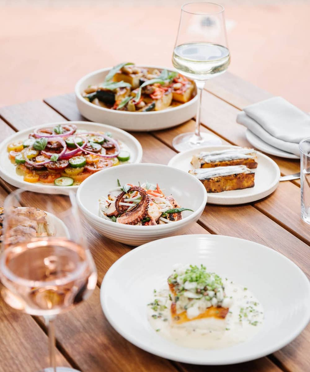 a table full of delicious lunch plates from Cooee