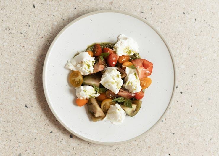 mozarella and tomato dish