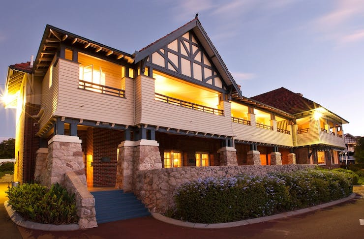 exterior of Caves House, a country pub in Yallingup WA