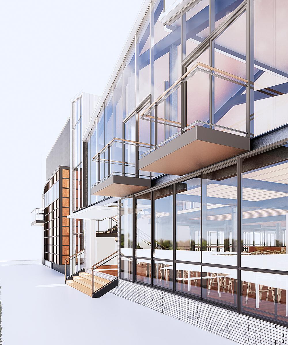 a render of the new precinct's exterior