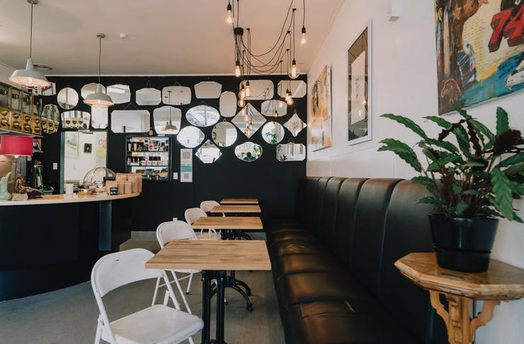 Interior of the Daily Coffee Company cafe in Dunedin.