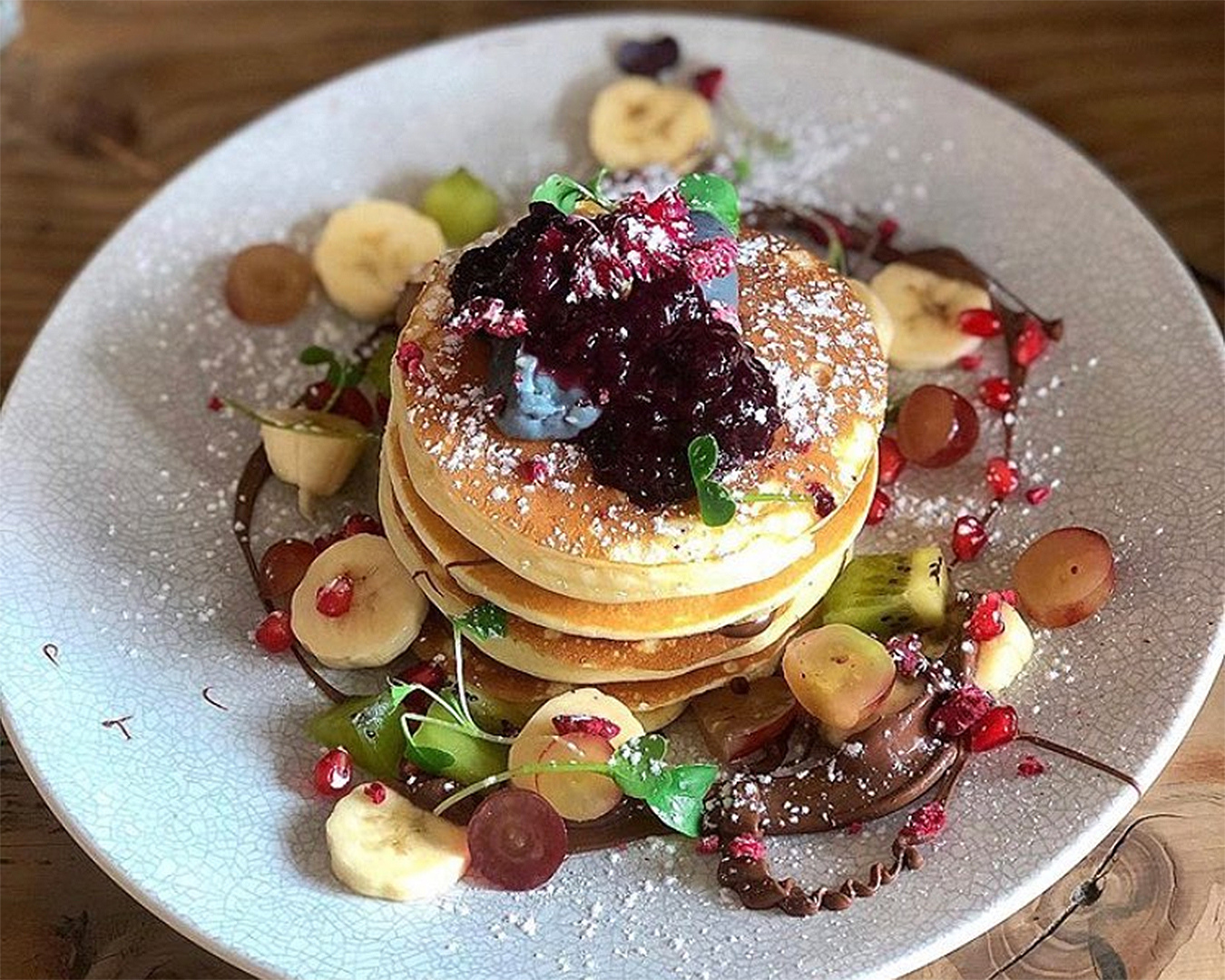 Delicious pancakes available at Dear Jervois.