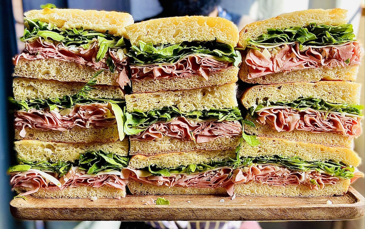 stacks of sandwiches from Deli's Continental
