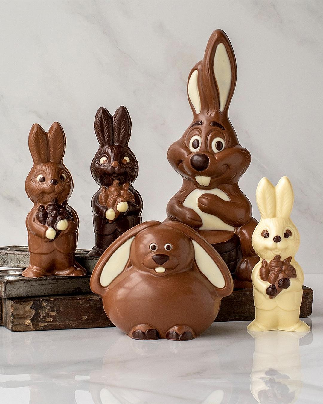 Devonport Chocolate bunnies.