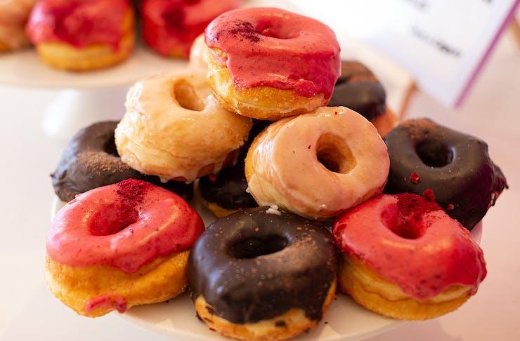 A heap of Doe Donuts