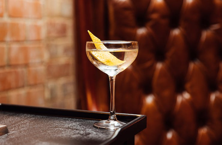 a martini style cocktail on a table