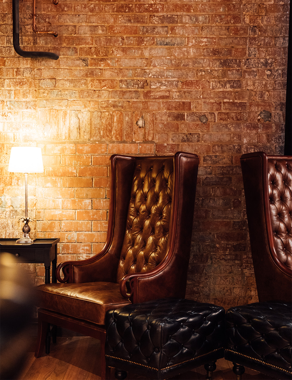 leather high backed chairs