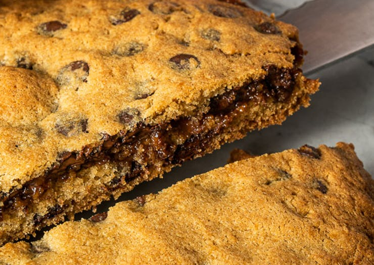 Dig In, Messina's Hefty Dulce Cookie Pie Is Stuffed With Choc Chips