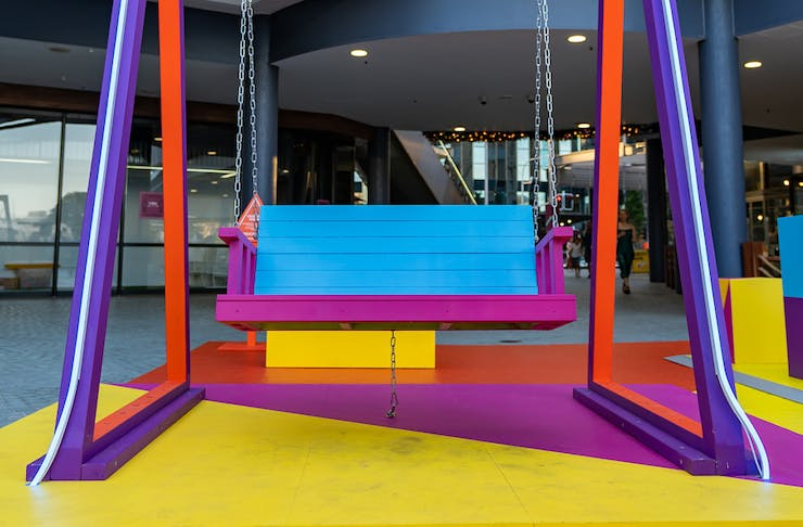 a colourful swing