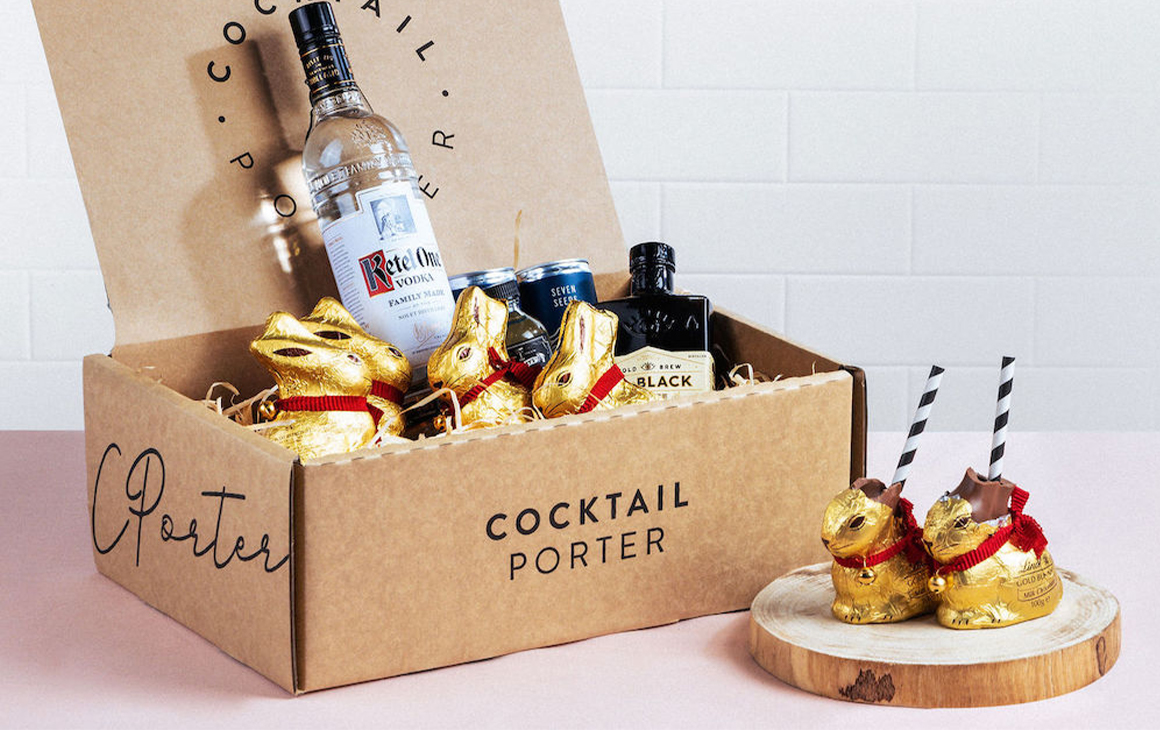 a packaging box filled with cocktail ingredients