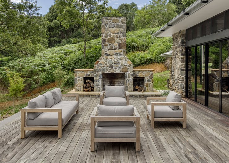 seating area on outside deck