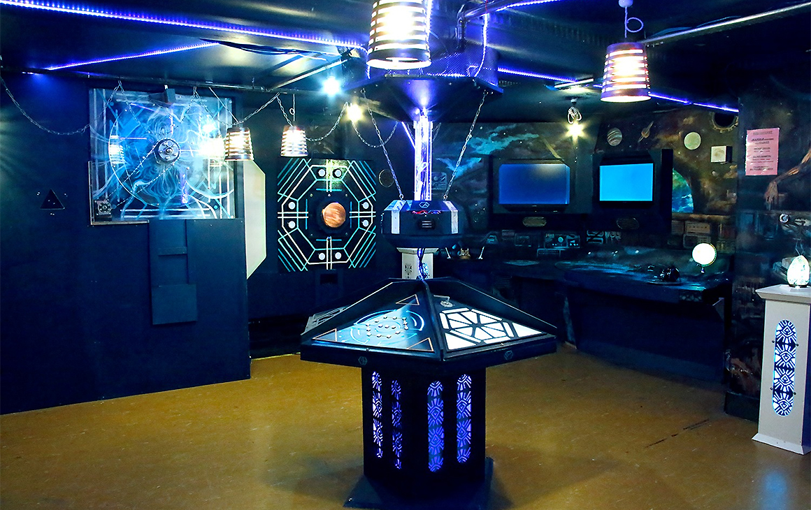 The spaceship at Escape Mate, One of wellington's best escape rooms.