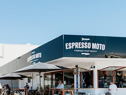 the exterior of the new mermaid beach espresso moto venue
