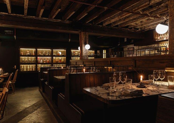 The dining room at Esteban.