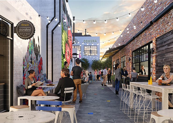 Inside Everton Park's Epic New Foodie Laneway