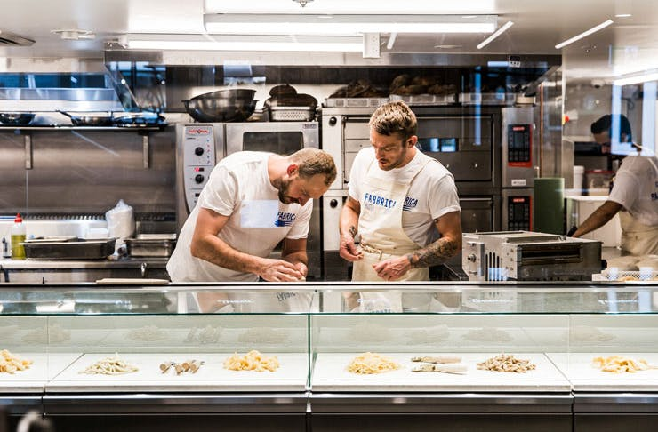 Chefs working at Fabbrica, Sydney.