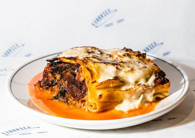 Lasagne from Fabbrica, Sydney.