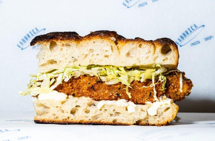 A sandwich from Fabbrica, Sydney.