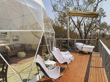 Sleep Under The Stars In This Stunning Luxury Dome Tent In The NSW Hinterland