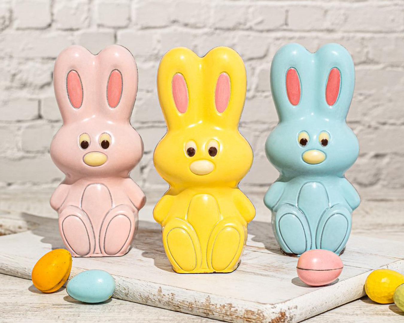 Colourful bunnies from farro fresh.