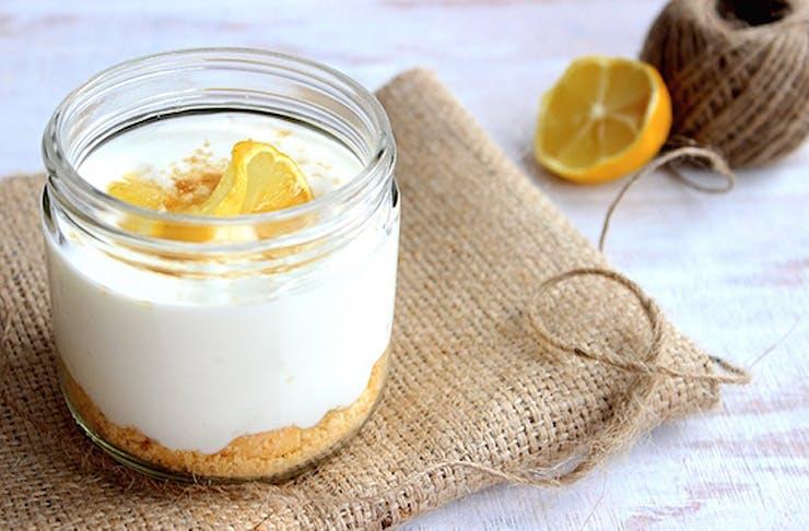 recipe, healthy recipe, lemon cheesecake pots, lemon cheesecake recipe
