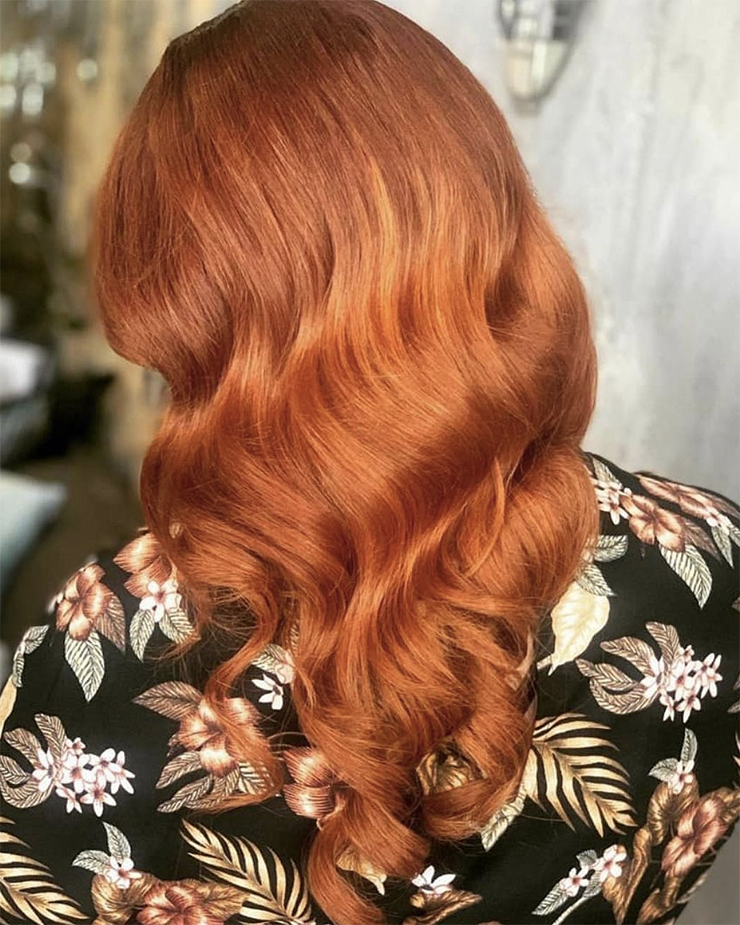 Stunning copper hair from The Following Hair Company