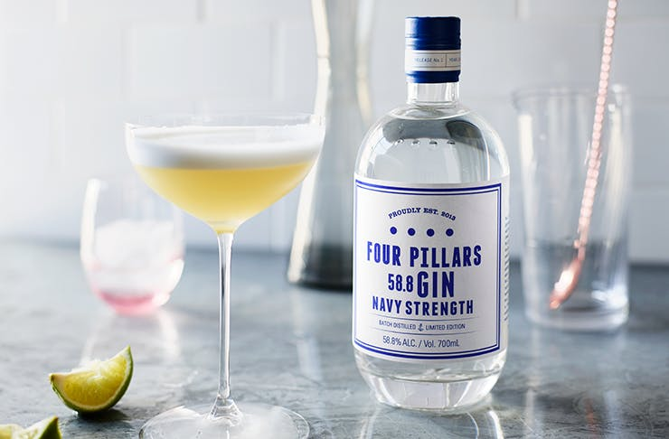 a bottle of gin with a label that reads