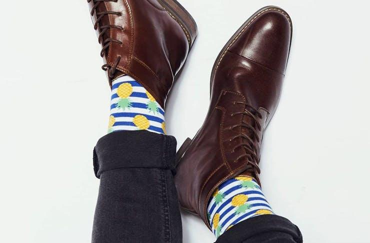 A pair of Frederick Harold socks.