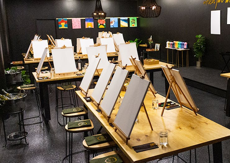 Get Creative While Admiring The Sunset At Noosa's Beachside Paint-And-Sip Session
