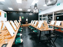 Stock Up On Cheese And Wine For A Session At This Luxe New Paint And Sip Studio