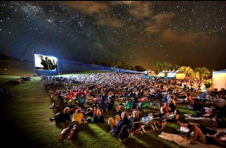 open-air-movie-glamping-sunshine-coast