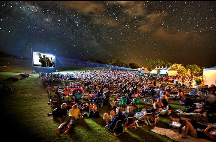 open-air-movie-glamping-sunshine-coast