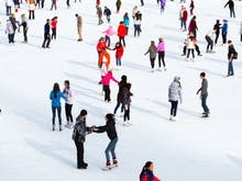 We've Just Scored A Gorgeous Ice Skating Rink With Real Snow For Winter!