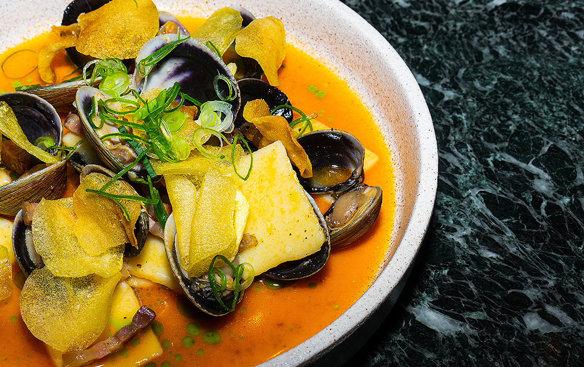 Delicious dish of mussels at Commercial Bay's GoChu